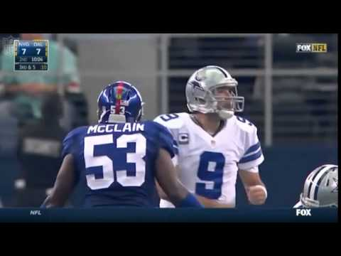 One of the funniest moments in a game that I can remember. Jameel McClain yells at Tony Romo 'I'm not the Mike!'