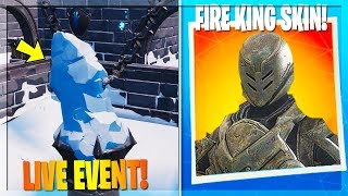 🔴 NOUVEAU FIRE KING SKIN EVENT! ÉVÉNEMENT EN DIRECT QUI SE PASSE À POLAR PEAK! (FORTNITE BATTLE ROYALE)