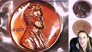 Coin Video of Roll of 50 1962 Proof Lincoln Memorial Cents in Mint Cello Roll 000048
