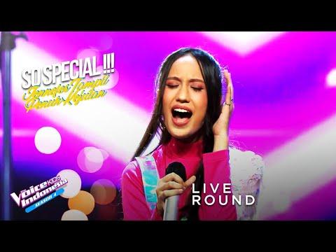 Jennefer - Titanium | Live Round | The Voice Kids Indonesia Season 4 GTV 2021
