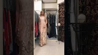 G 2178 Платье вечернее из гипюра-пламя video