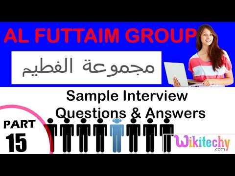 al futtaim group technical interview questions and answers مجموعة الفطيم