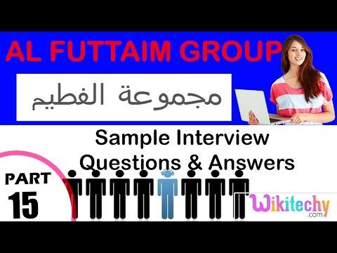 al futtaim group technical interview questions and answers مجموعة الفطيم