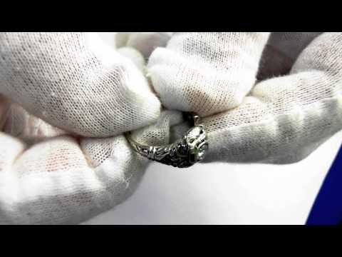 Art Deco Engagement Ring (circa 1930) -18k and 1/4 Carat Center Diamond