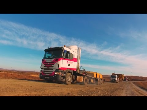 Испытание на прочность. Экскаватор весом более 250 тонн в разрез Кийзасский!
