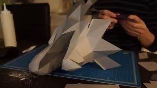House Stark's Sigil Direwolf papercraft - Game of Thrones