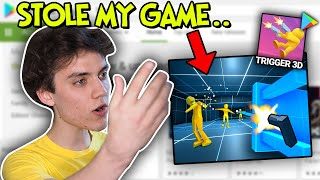 He Stole My Game, and made a cringe mobile Ad with it...