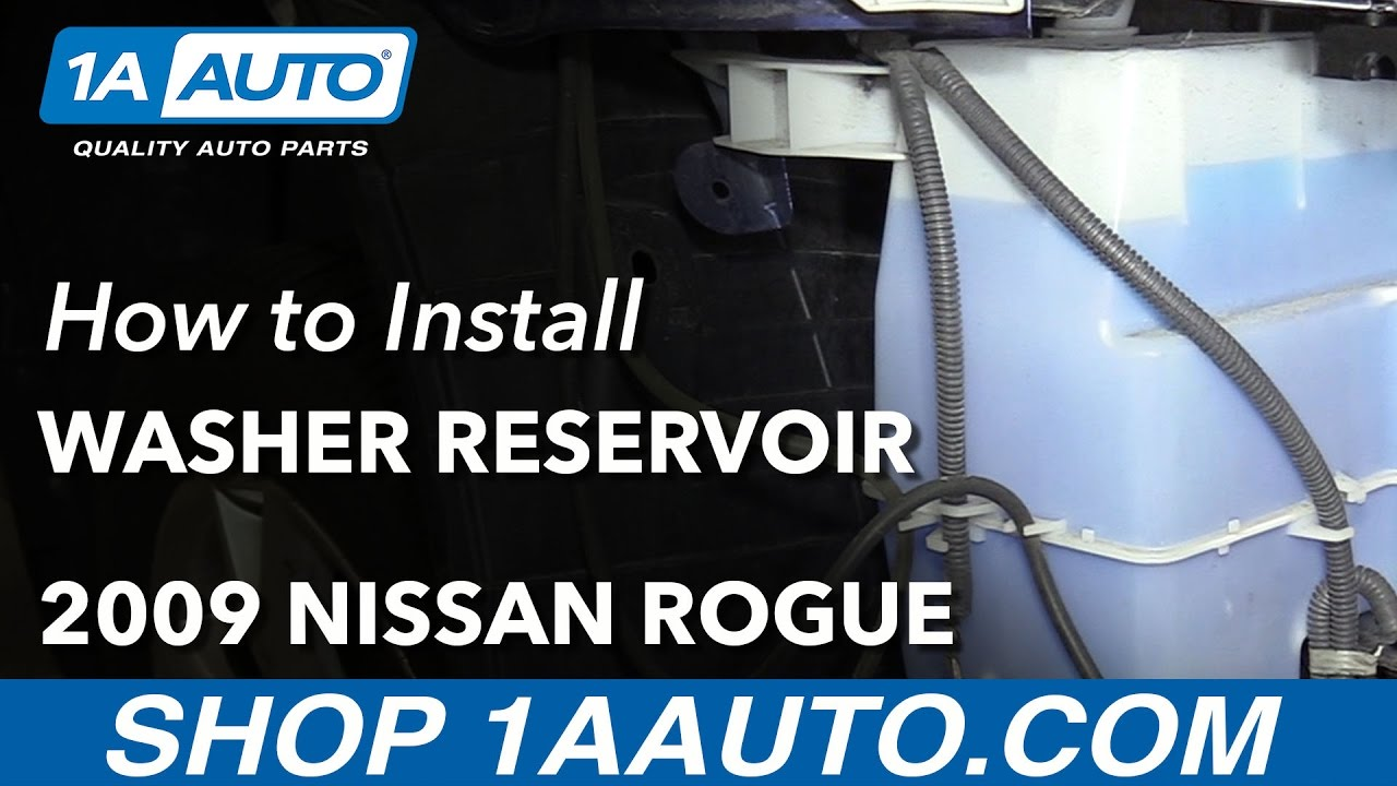 How To Replace Washer Fluid Bottle 07 13 Nissan Rogue
