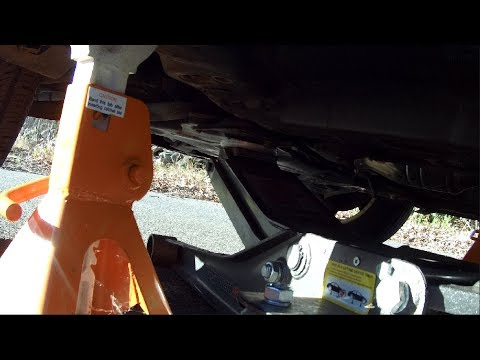 How To Jack Up And Put Jack Stands On A Hyundai Elantra Youtube