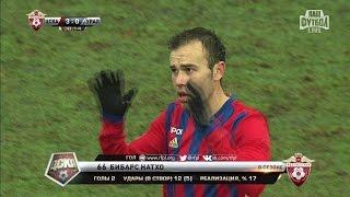 Футбол  РФПЛ  17 й тур  ЦСКА   Урал 3 0 38' Бибарс Натхо (Пенальти)