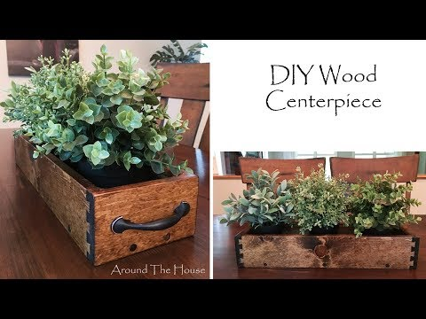 DIY Wood Centerpiece