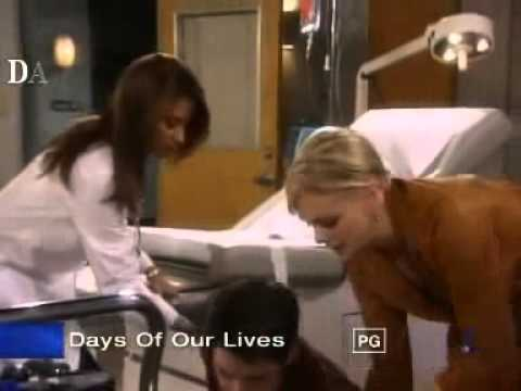 2005 Days of our Lives - Shawn faints from giving too much blood (UNCONSCIOUS)
