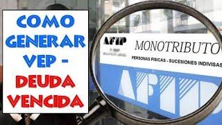 Como Pagar VEP Deuda Vencida de Monotributo en Efectivo (sin Banco)💵Paso a Paso desde Pagina AFIP