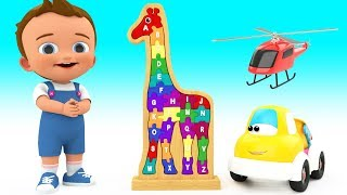 Learning Alphabets With Wooden Giraffe Puzzle Toys For Kids Children Toddlers Educational Videos