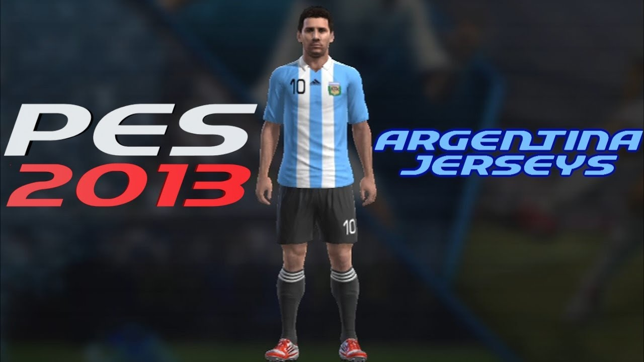 fea82ac1f62433 PES 2013 How to Create Argentina FC Kit Home + Away Jerseys - YouTube