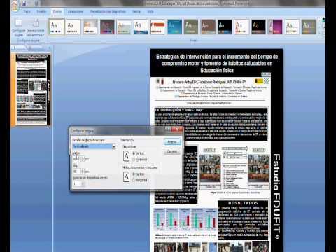 Dise o de poster en ppt youtube for Disenos de powerpoint