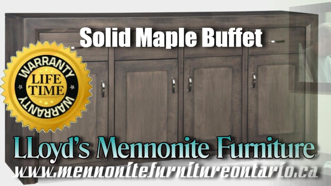 Mennonite Furniture Kitchener Maple Buffet Solid Maple Mennonite Buffet Mennonite Furniture
