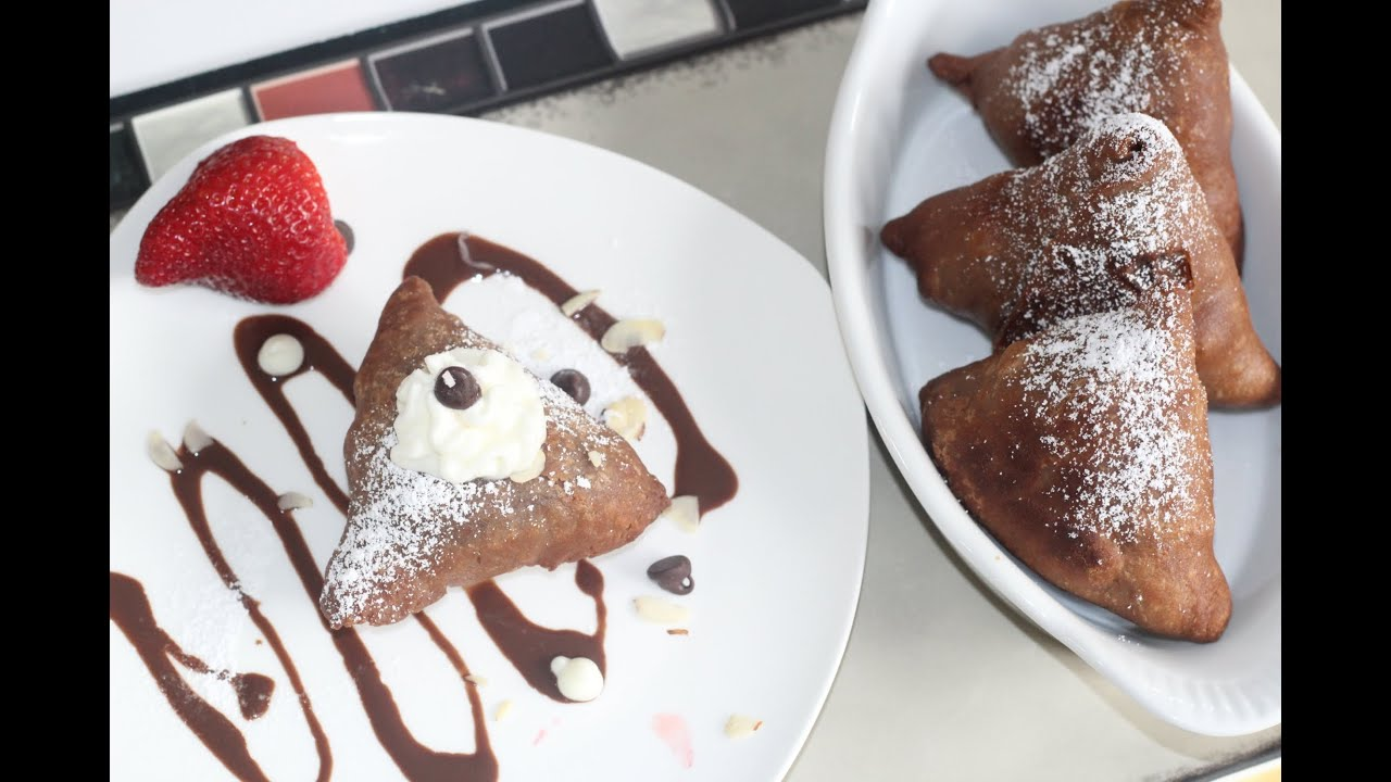 Chocolate Samosa Sweet Dessert Recipe by Bhavna - YouTube