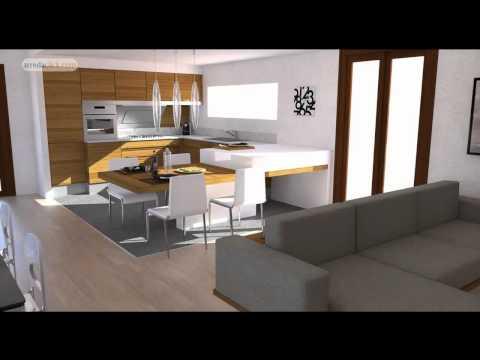 Progettazione di Interni 3D: bilocale moderno