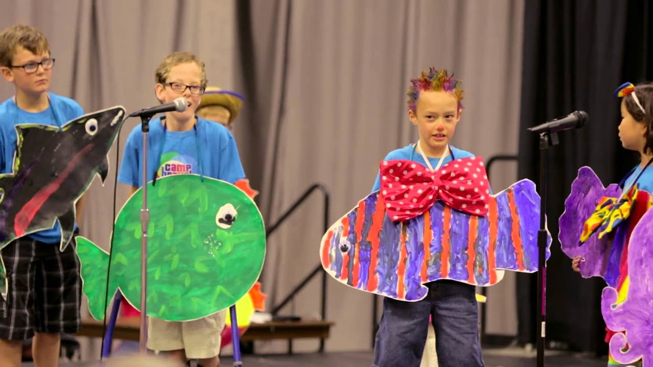 Go fish musical performance by camp bravo at shriners for Fishing camps for kids