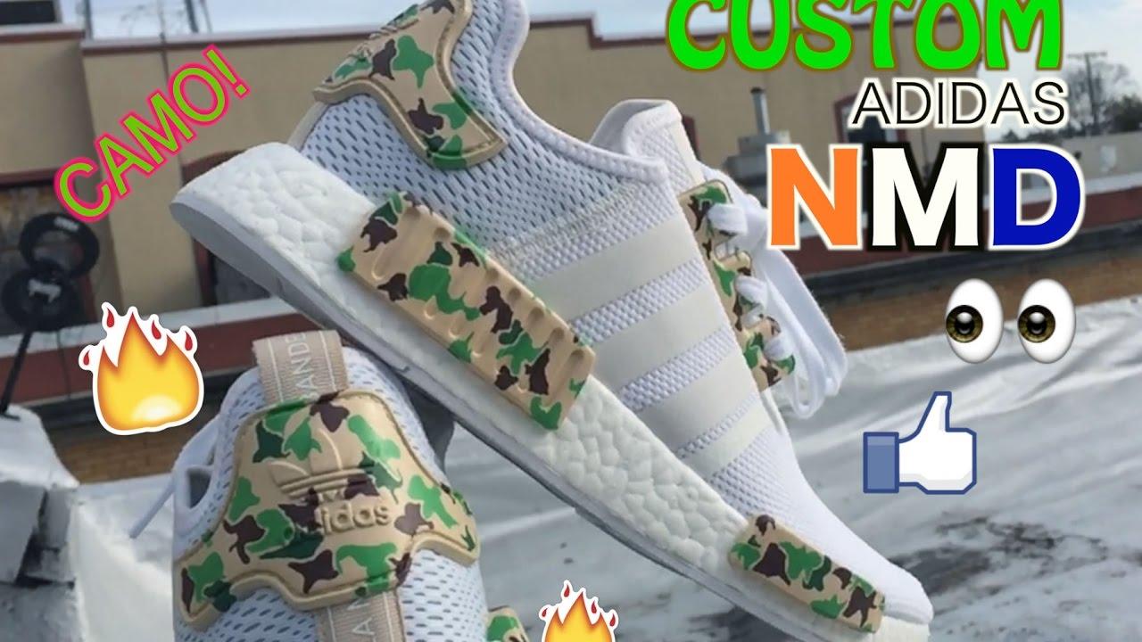 1f8500b5fbf0 How To  Custom Adidas NMD R1 Camo - Bape w  Timelapse - YouTube