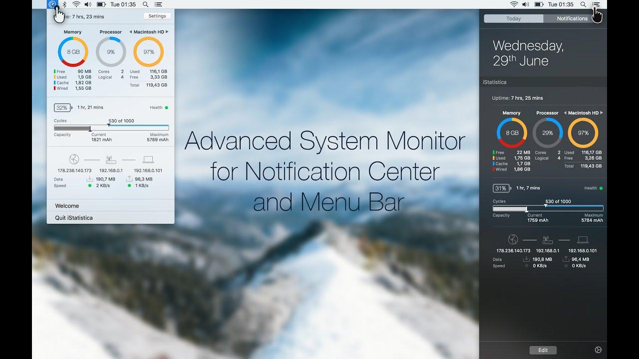 Istatistica 2 0 Advanced System Monitor For Mac Cpu