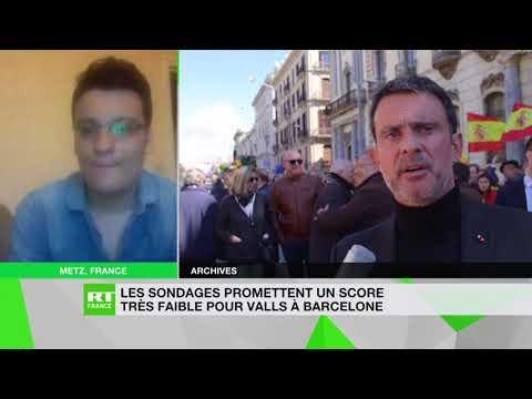 Les sondages promettent un score très faible pour Valls à Barcelone