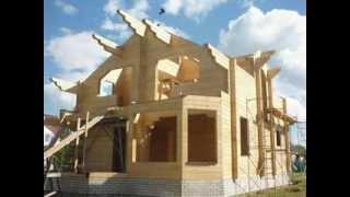 видео Баня из клееного бруса - проекты, этапы строительства и анализ цены на материал и «под ключ»