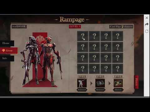 Rampage event card flips Free fire