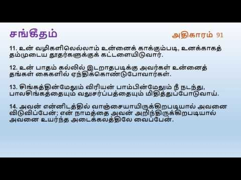 Psalm Chapter 91 | Tamil Audio Bible