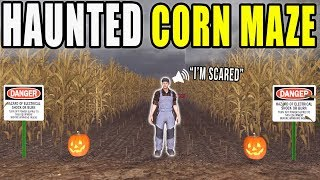 Entering The Haunted Corn Maze | Farming Simulator 2017