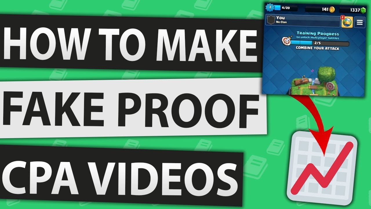 How To Make A Cpa Fake Proof Video Cpa Marketing 2019 Youtube