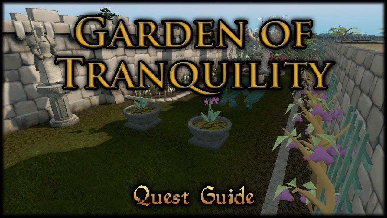 Garden Of Tranquillity Runescape Quest Guide Youtube
