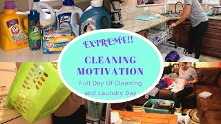 Clean With Me| Full Day Of Cleaning & Laundry Day| Extreme Cleaning Motivation