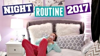 WINTER NIGHT ROUTINE 2017 | GET UNREADY WITH ME!