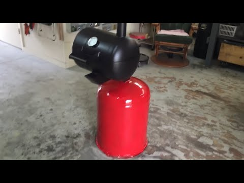 How to build a Propane tank charcoal grill