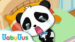 Panda Kiki Gets a Stomachache Crying Eat by Yourself Good Habits BabyBus Cartoon