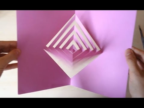 "Super Easy Way To Make A ""Magic Spinning Kirigami"" Card Tutorial ..."