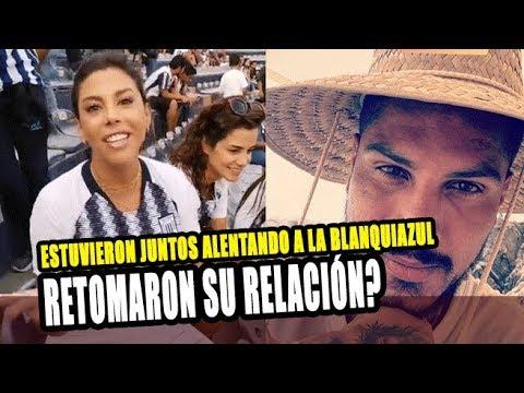 ALONDRA GARCIA MIRO Y PAOLO GUERRERO ESTUVIERON JUNTOS ALENTANDO A ALIANZA LIMA