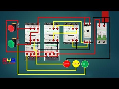 star delta starter control circuit diagram ! star delta connection