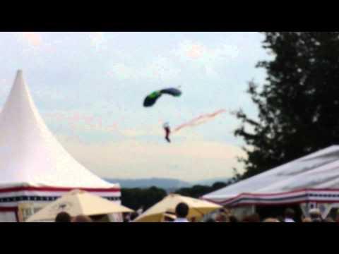 Parachuting to US ambassador residence Ireland