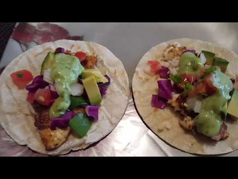 Tilapia Fish Tacos With Avocado Cilantro Sauce