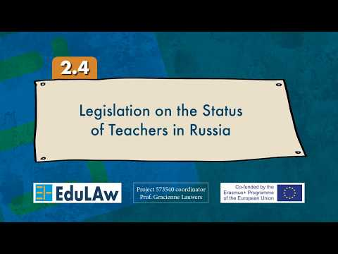 2.4 Legislation on the Status of Teachers in Russia