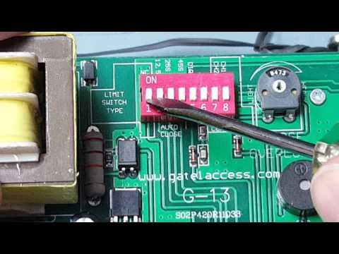 Gate1® GA2000 slide gate opener dip switch setting