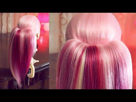 Как сделать широкий хвост из 2 резинок - Hairstyles by REM