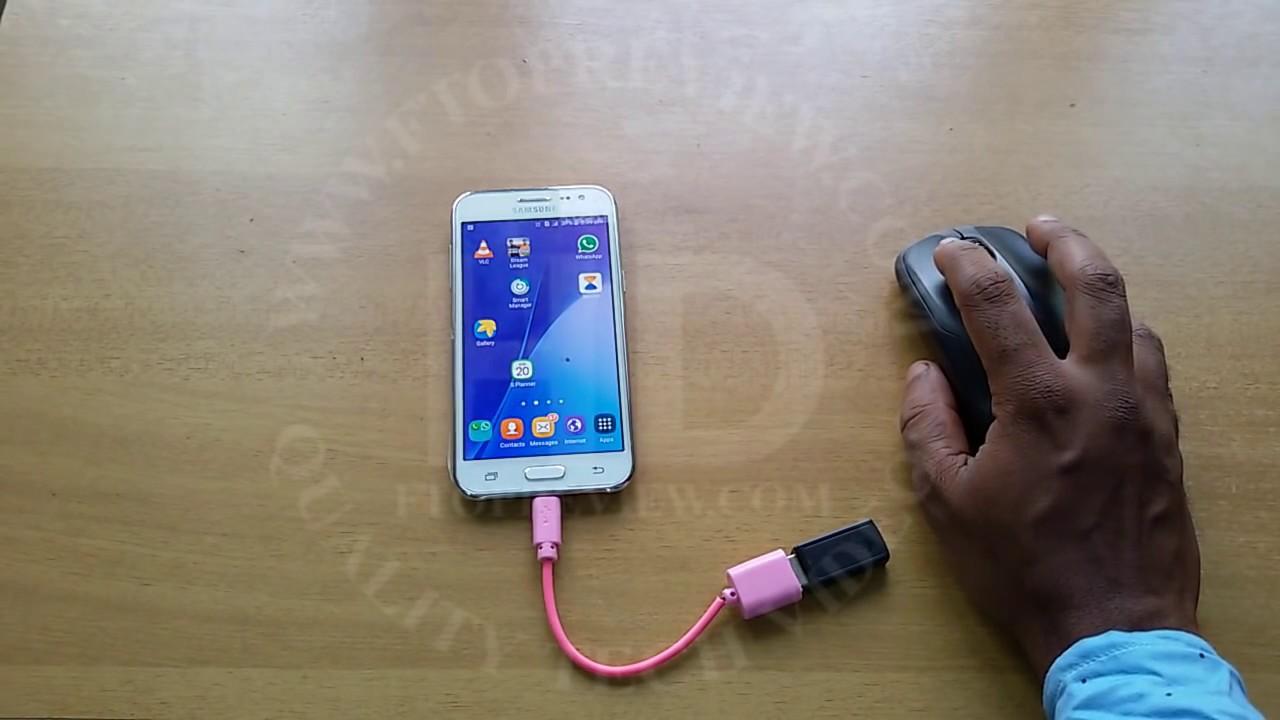 Samsung Galaxy J2 Usb Otg Testing With Wireless Mouse