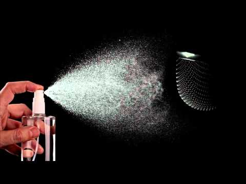 (3D binaural recording)  Asmr spraying microphones placed inside crinkly bags