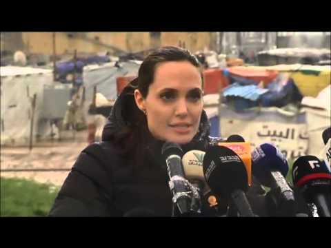 Jerusalem Post News: Angelina Jolie visits Syrian refugees in Lebanon