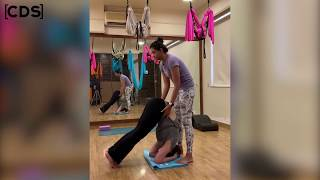 Zareen Khan H0T Yoga Poses With Her Fitness Trainer