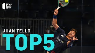 #Top5 Puntazos Juan Tello 2020 | World Padel Tour
